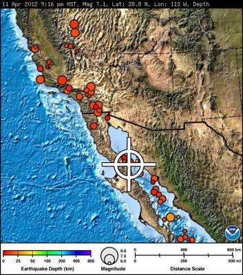 Terremoto de 7,1 grados en California