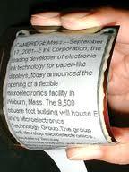 Nanotecnología: crean el papel inteligente.