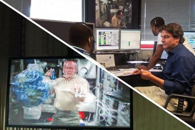 Primera transmisión 3D en directo desde el espacio