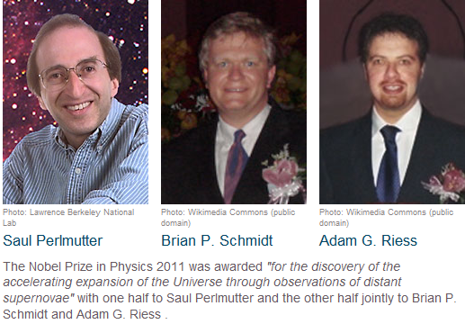 Premio Nobel de Física 2011: La energía oscura y la expansión acelerada del espaciotiempo