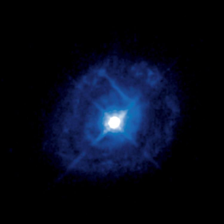 Telescopios de la ESA diseccionan la materia en torno a un agujero negro supermasivo