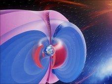 Cinturón de antimateria rodea la Tierra. Crédito: BBC.